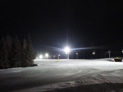 Die Skipiste vom Skigebiet Haunold bei Nacht - Nachtskifahren in Innichen